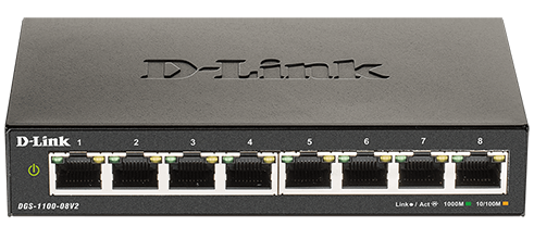 DGS-1100 V2 Series Smart Managed 8-Port Gigabit Switch