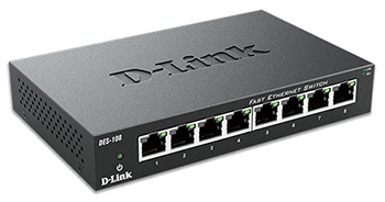 D-Link DES-108 Side View